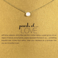 The Maddy Pearls of Love Necklace
