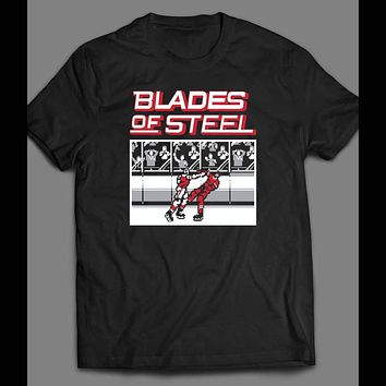RETRO VIDEO GAME BLADES OF STEEL GAME ART T-SHIRT