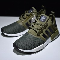 Adidas NMD R1 Olive Green Shoes Sneakers
