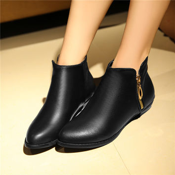 woman boots Zipper