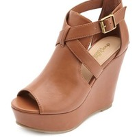 PEEP TOE CUT-OUT PLATFORM WEDGES