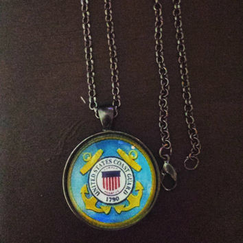 United States coast guard military necklace