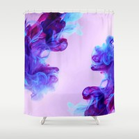 Ink Drops Shower Curtain by General Design Studio