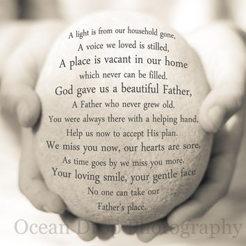 Father Remembrance Gift, Sympathy Gift, In Loving Memory Quote, Remembrance Quote, Father Prayer, With Sympathy, Memorial Quote