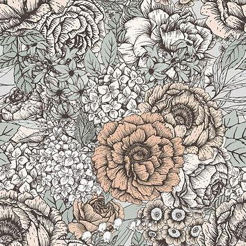 Muted Floral Wallpaper