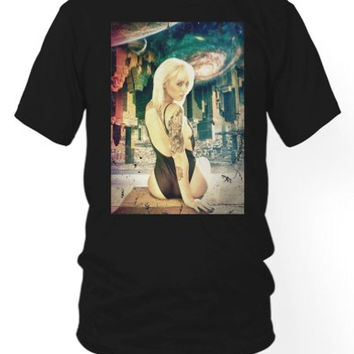 Space Fantasy Girl T-shirt | Tattoo Pin up Tee