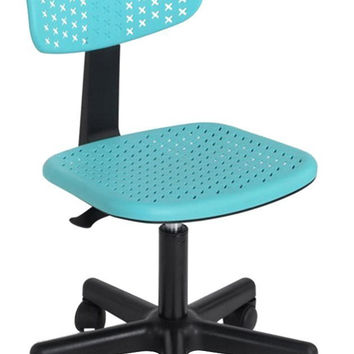 FurnitureR IWC Swivel Home Desk Chairs Turquoise '