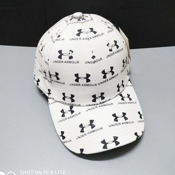 """Under Armour"" Fashionable Women Men Sports Sun Hat Baseball Cap Hat White"