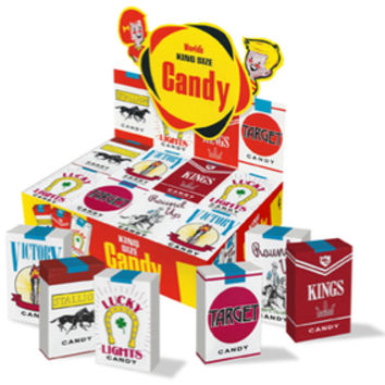 Cigarette Candy Packs: 24-Piece Box