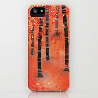 Birches iPhone Case by Squirrell