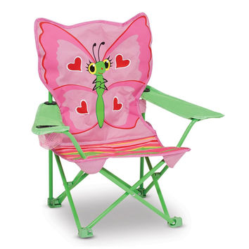 Butterfly Bella Children's Outdoor Folding Chair