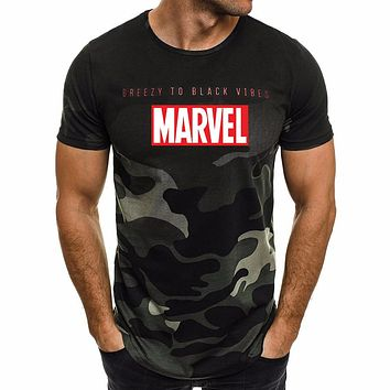 Ultra-thin New Fashion Marvel Short Sleeve T-shirt Men Superhero print t shirt O-neck comic Marvel shirts tops men clothes Tee