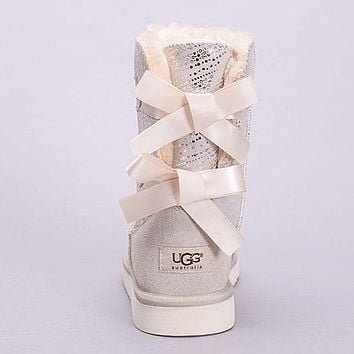 UGG Women Fashion Bow Snow Boots Tube in Boots Shoes