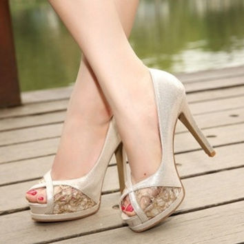 2015 spring and summer fashion high-heeled shoes Korean version of the fish head high-heeled sandals heavy-bottomed shoes shoes = 1753571524