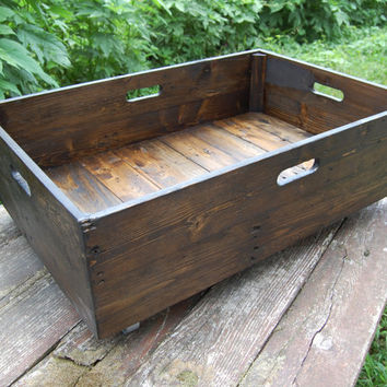 Under Bed Storage Rolling Crate/ Reclaimed Wood/ Organization/Wooden Crate