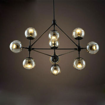 2015 Magic Beans Dna Lustres Wrought Iron Industrial Cafe Project Lamps Nordic Art Deco Glass Ball Mod Pendant Hanging Lights
