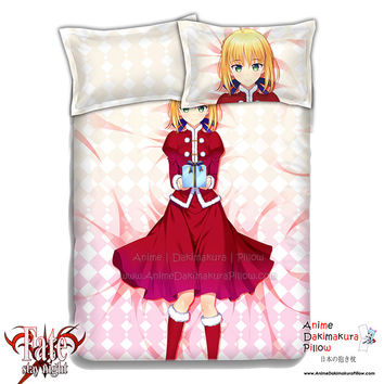 New Saber - Fate Stay Night Japanese Anime Bed Blanket or Duvet Cover with Pillow Covers ADP-CP151207
