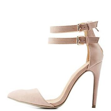 Double Ankle Strap Pointed Toe Pumps