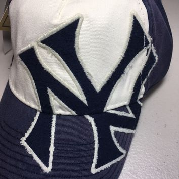 NEW YORK YANKEES MLB AMERICAN NEEDLE BIG NY COOPERSTOWN STRAP HAT SHIPPING!