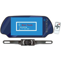 Pyle PLCM7300BT Rearview Mirror Monitor 7 TFT W/Night Vision Camera & Bluetooth