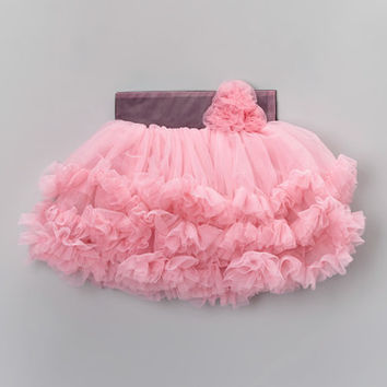 Tutus by Tutu AND Lulu Aqua Rosette Pettiskirt - Infant, Toddler & Girls | zulily