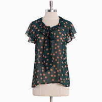 cirque renoir polka dot top - $34.99 : ShopRuche.com, Vintage Inspired Clothing, Affordable Clothes, Eco friendly Fashion
