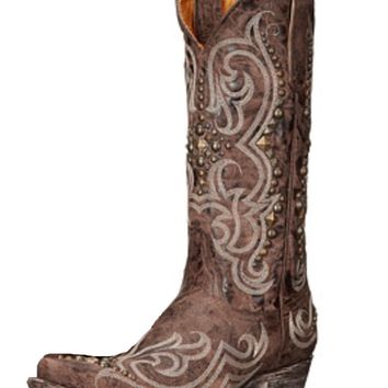 "Old Gringo Dolce Stud 13"" L2643-4 Chocolate Leather Boots"