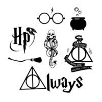 Set of 7 hogwarts Iron on Screen Print fabric Machine Washable cauldron Transfer | eBay