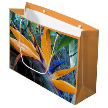 Bird of Paradise 2 Floral Large Gift Bag