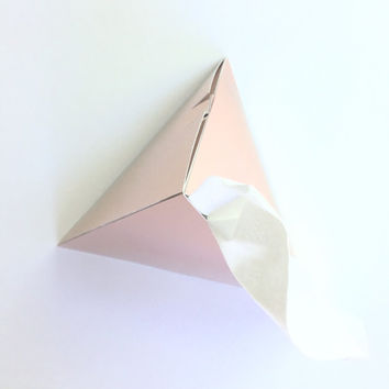 Luxe Rose Gold Geometric Tissue Boxes | 3 Count | Refillable Tissue Boxes | Luxe Home Decor | Reusable Tissue Box | Geometric Home Decor