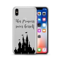 This Princess Saves Herself iPhone & Samsung Clear Phone Case Cover