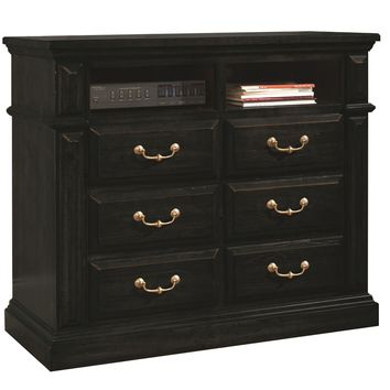 Torreon Rustic Media Chest Antique Black