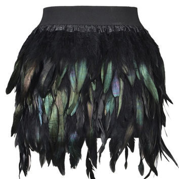 Feather Mini Skirt = 5738968961