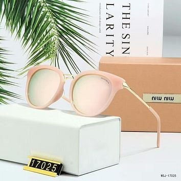 Miu Miu Popular Women Simple Summer Sun Shades Eyeglasses Glasses Sunglasses Pink(Pink Frame) I-A-SDYJ