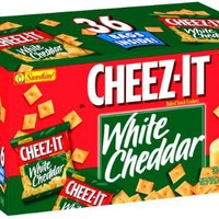 Cheez-It Crackers, White Cheddar, 36-Count  1.5 oz Single Serve Packages