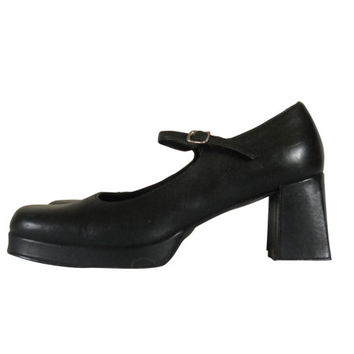 90s Mary Jane Shoe Steve Madden Mary Jane Heel Black Mary Jane Women Shoe Size 10 Maryjane Shoe 90s Grunge Shoe 90s Chunky Heel Block Heel