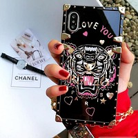 KEnzo Tiger Head Print Fashion Cute Couple Phone Case iPhone 7/8 iPhone X  iphone 6 6s 6plus 6s plus