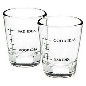 Set Editions Shot Glasses Set (2) Good Idea Bad Idea : Hemingway and...