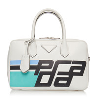 City Calf Duffle Bag with Logo | Moda Operandi