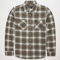 Rvca Bends Mens Flannel Shirt Dark Khaki  In Sizes