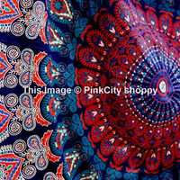Hippie Hippy wall Hanging Indian Mandala Tapestry Throw Bedspread Dorm Tapestry Decorative Wall Hanging Picnic Beach Sheet Twin Mandala art