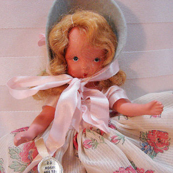 Nancy Ann Storybook Doll Roses are Red Violets are Blue 1940s doll