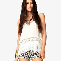 Showstopper Fringed Top | FOREVER 21 - 2041606173