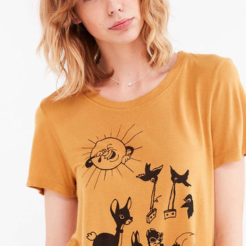 d09712353d6930 BDG Cartoon Animal Doodle Tee - Urban from Urban Outfitters