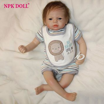 20 inches Boneca Bebe Reborn Toddler Doll Silicone Vinly Alive Boy Baby Dolls Children Birthday Gift Brinquedos