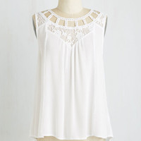 Boho Mid-length Sleeveless Cottage Chic Top