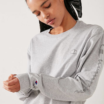Champion + UO Reflective Long Sleeve Tee | Urban Outfitters