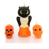 Halloween Trio Halloween Vintage Candles Halloween Decor