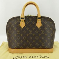 AUTH LOUIS VUITTON MONOGRAM ALMA HAND BAG M51130 w/DUST BAG EY699