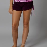 Hard Tail Rouched Track Short - Grape